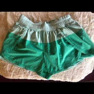 Green lulu lemon shorts